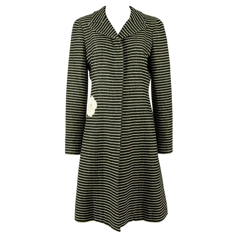Chanel Cruise 2001 Striped Coat For Sale
