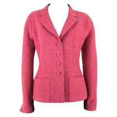 2000s Chanel Punch Pink Jacket