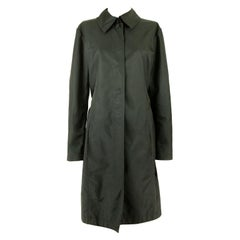 1980s Chanel Black Belted Trench Coat