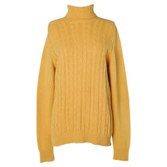 Yellow cachemire pullover Hermès Sport