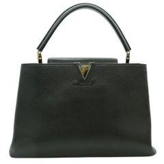WOMENS DESIGNER  Louis Vuitton Capucines GM Black leather