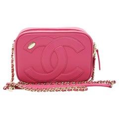 WOMENS DESIGNER Chanel CC Mania Camera Case Pink