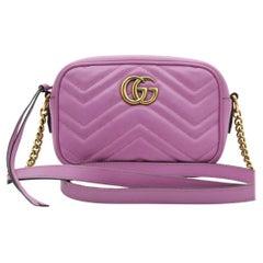 WOMENS DESIGNER Gucci Mini GG Marmont - Pink
