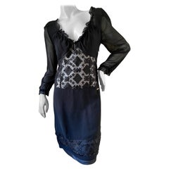 Just Cavalli Little Black Dress by Roberto Cavalli with Sheer Details