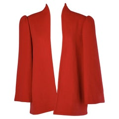 Haute-Couture red jacket numbered Yves Saint Laurent Paris
