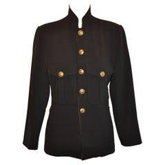Jean Paul Gaultier Black Military-Style Jacket