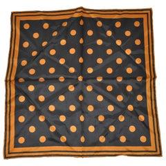 Golden Bronze & Midnight Black Polka Dot Handkerchief