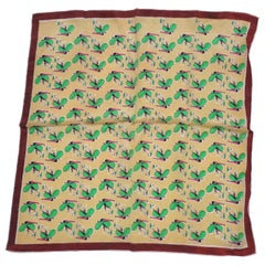 """""""Garden Elf At Play"""" with Coco-Brown Borders Silk Scarf"""