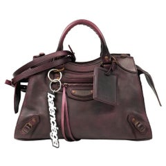 Balenciaga, City Bag in burgundy leather