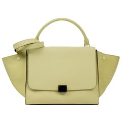 Celine, Trapeze in yellow leather