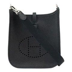 Hermès, Evelyne in black leather