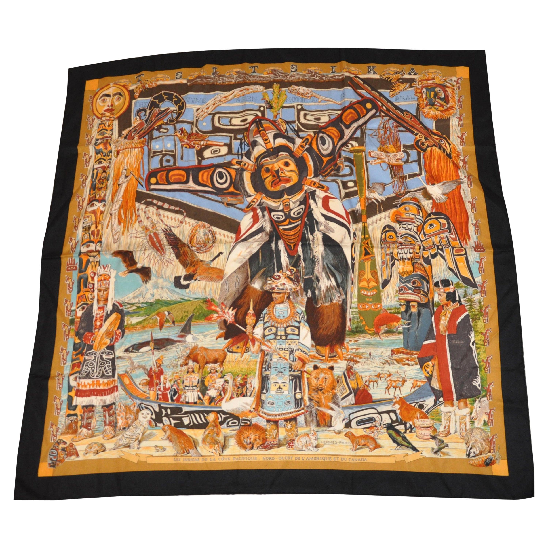 "Hermes Magnificent ""Limited Edition"" ""Tsitsika"" Silk Jacquard Scarf"