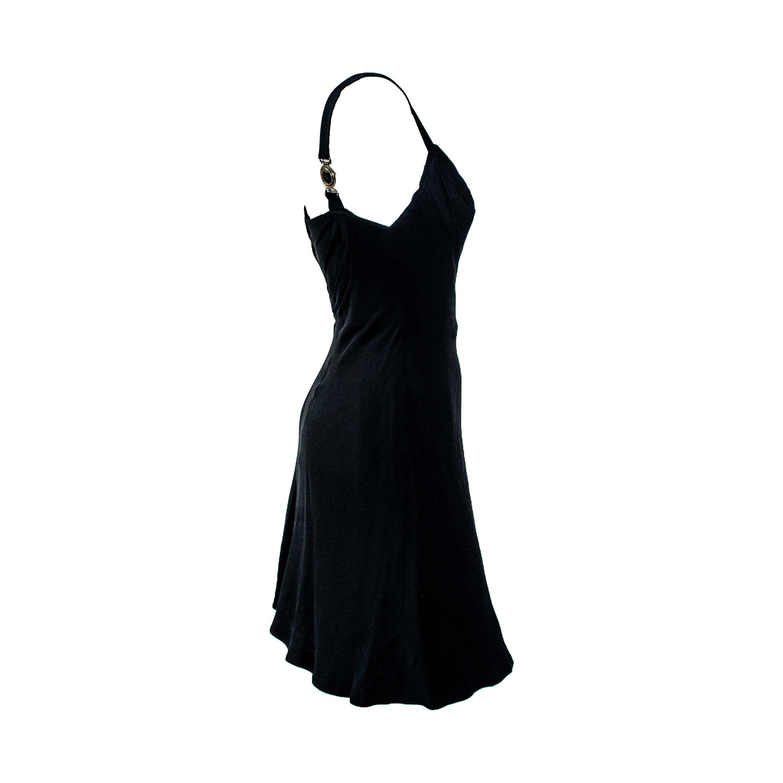 S/S 1996 Gianni Versace Couture Medusa Strap Mini Runway Dress