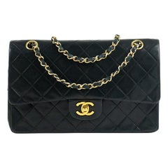 Chanel, Vintage Timeless Medium in black leather