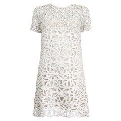 ERMANNO SCERVINO off-white CROCHET MINI Dress 42 M