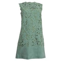 ERMANNO SCERVINO mint green EMBROIDERED LACE MINI Dress S