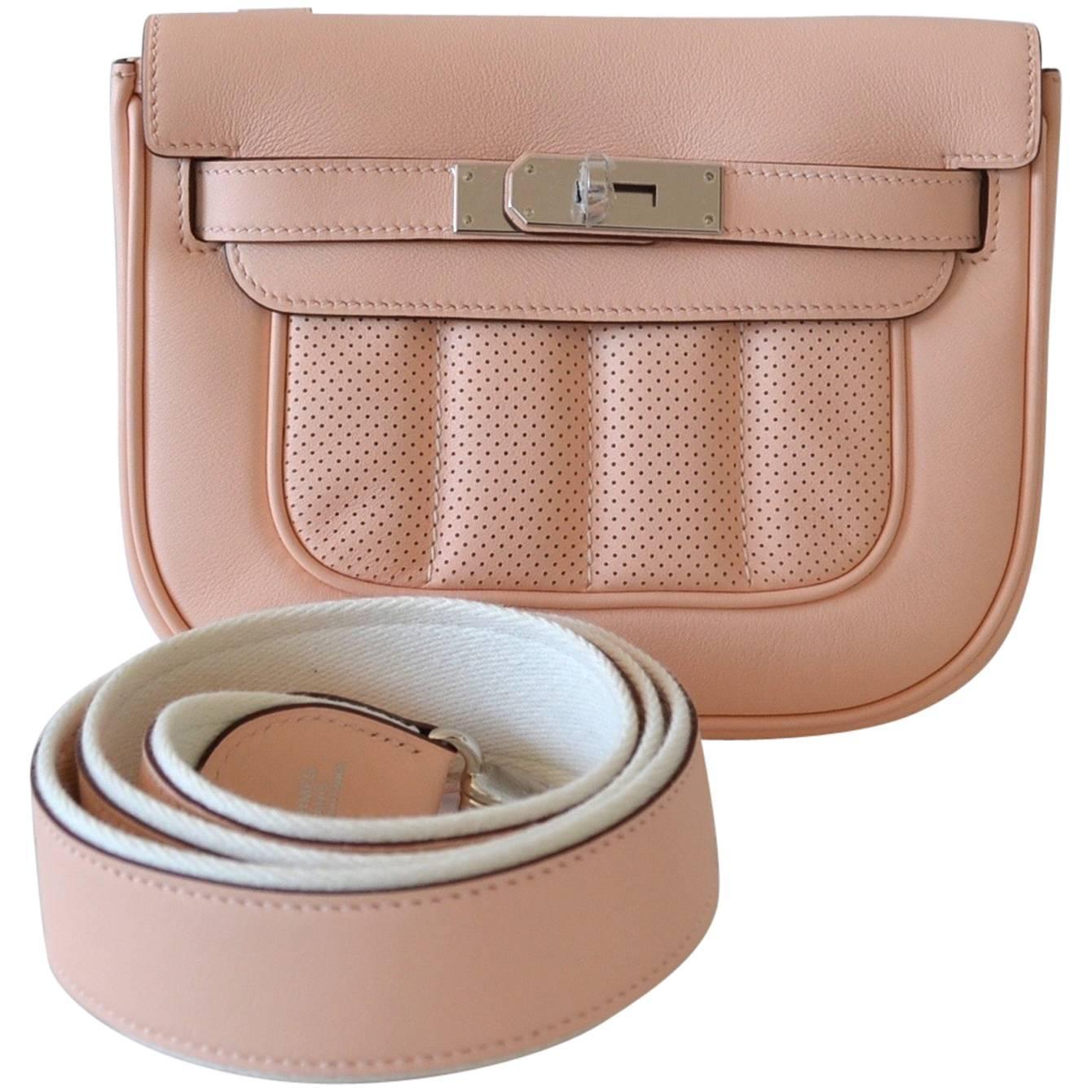 Hermes handbag Mini Berline Swift Rose Sakura at 1stdibs