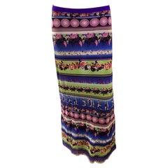 Jean Paul Gaultier Soleil Logo Mesh Maxi Skirt Dress