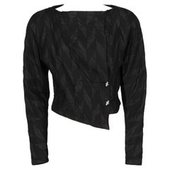 1980s Genny black short jacket