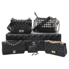 Chanel Metiers D'Art 2020 Black Quilted 4 Mini Bags Collectors Box