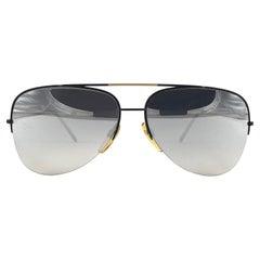 New Vintage Safilo Ufo 2000 Half Frame Aviator 80's Sunglasses Madein Italy