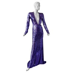 """Gucci by Tom Ford Rare 2004 Runway """"Head Turner"""" Beaded Gown"""