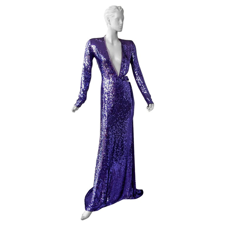 """Gucci by Tom Ford Rare 2004 Runway """"Head Turner"""" Beaded Gown  For Sale"""