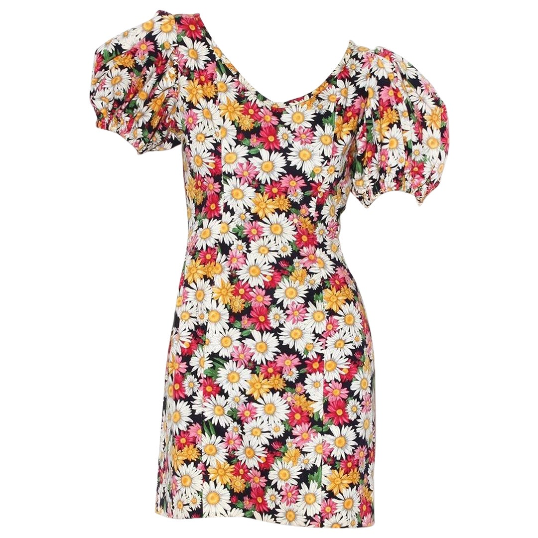 Yves Saint Laurent Print Mini Dress SS1992