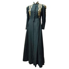 1940s Black and Brass Opera Coat