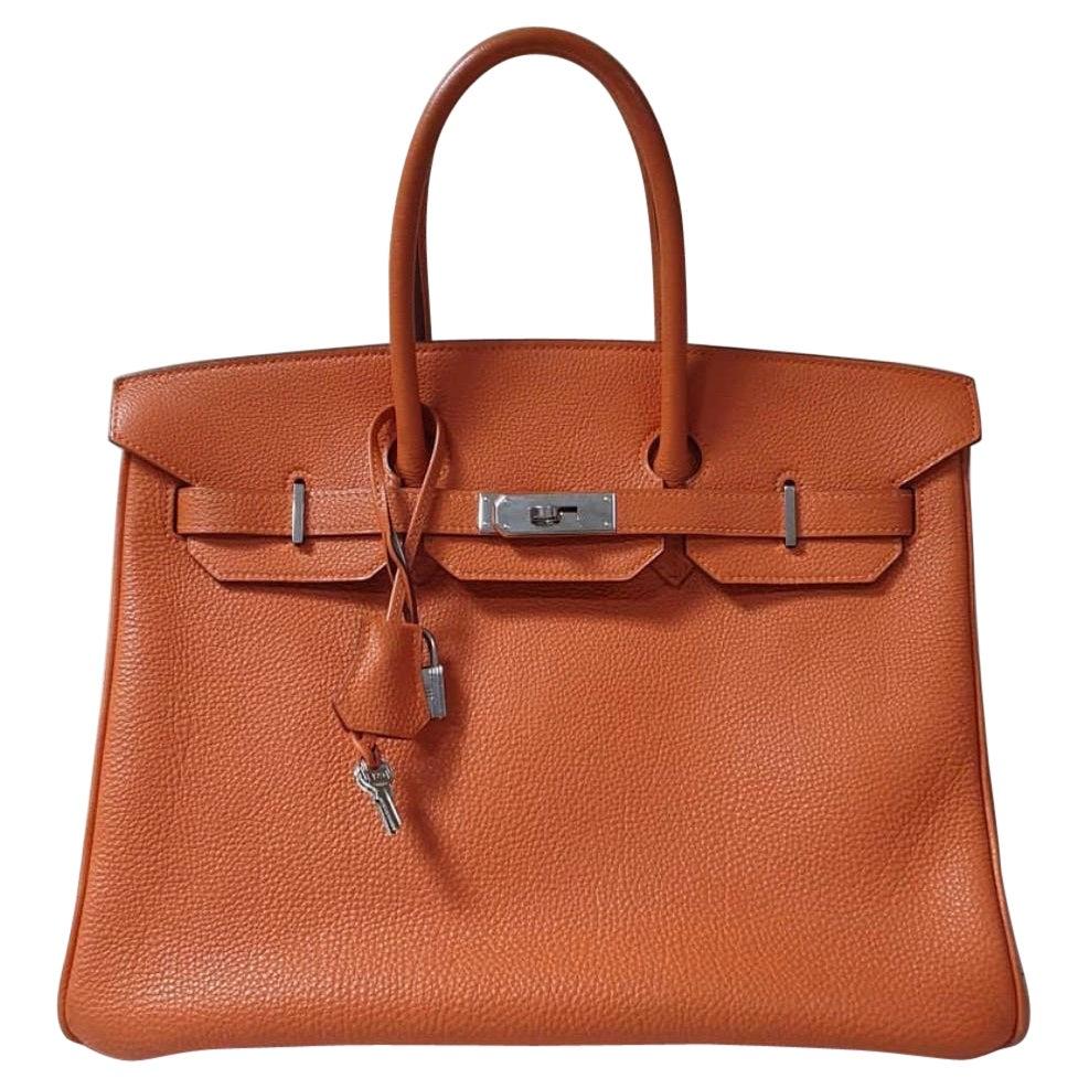Hermès Birkin 35 2 colour Leather Handbag