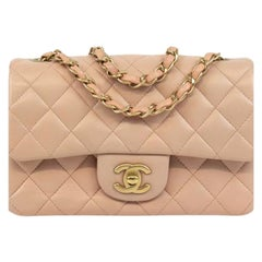 Chanel, Mini Timeless in pink leather
