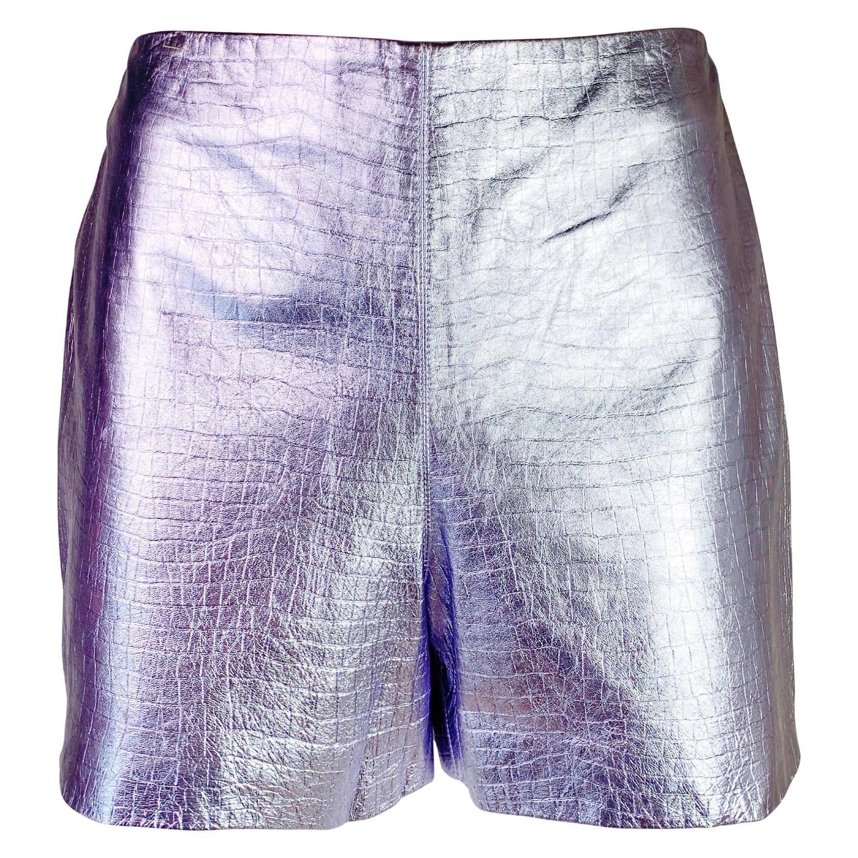 Gianni Versace Fall 1994 Metallic Leather Mini Shorts