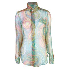 Dolce & Gabbana Spring 2000 Paisley Print Silk Shirt