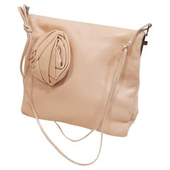 Gucci Pink  Leather Flower  Evening Purse