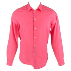 A.P.C. Size S Pink Polyester / Cotton Button Up Long Sleeve Shirt