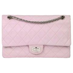 2009 Chanel Sakura Pink Quilted Lambskin 2.55 Reissue 226 Flap Bag