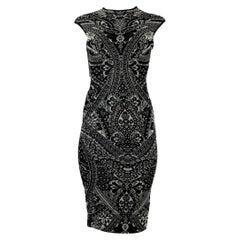 Alexander McQueen 2010 collection Bicolor Print Dress size XS