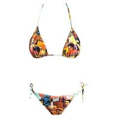 Jean Paul Gaultier Soleil Vintage People Bikini Swimwear Swimsuit 2 Piece Set
