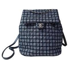 Chanel Chanel Black/White Tweed Urban Spirit Backpack