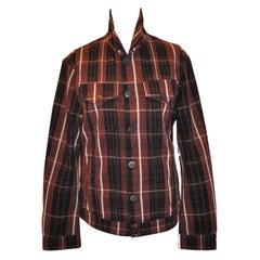 Vivienne Westwood Coco-Brown, Black & Cream Cotton Plaid Button Jacket
