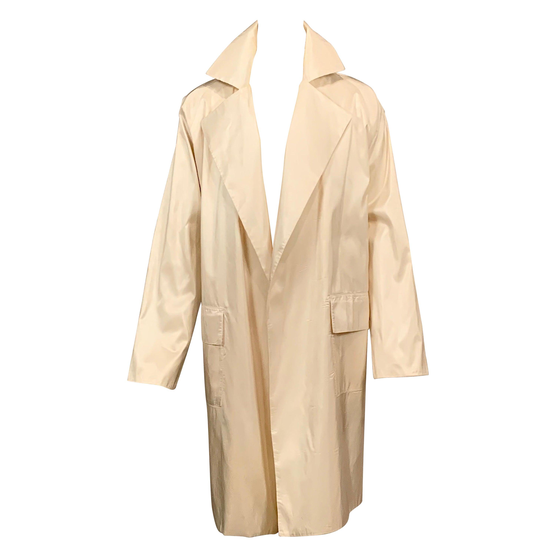 Shamask True Bright White Silk Coat
