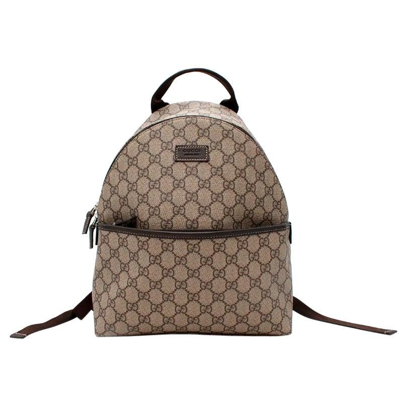 Gucci Supreme GG Beige Canvas Kids Backpack