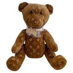 Louis Vuitton Doudou Brown Velour Monogram Teddy Bear