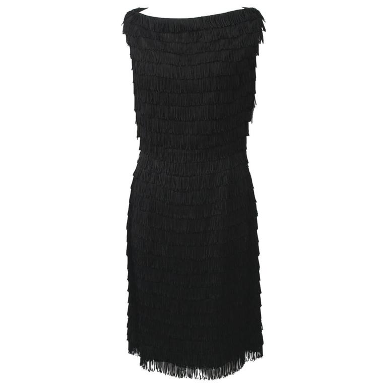 1960s Fringed Cocktail Dress