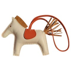 Hermès Rodeo Charm Horse for Kelly Birkin Bag Craie Sesame Cornaline MM