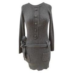 Sonia Rykiel grey wool dress NWOT