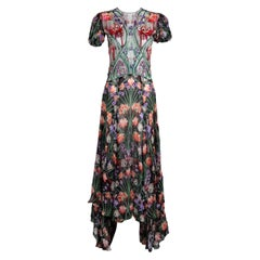 Liberty of London Floral Embroidered Silk Maxi Dress, Spring 2020