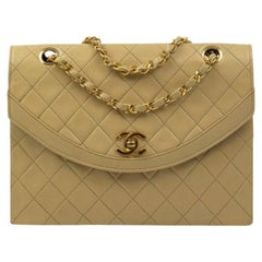 Chanel Vintage in beige leather