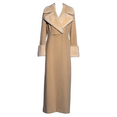 Givenchy by Alexander McQueen beige angora wool and shearling coat, c. 1999-2001