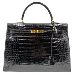 Hermès Kelly 35 Black Crocodile 1997